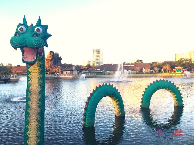 Disney Spring LEGO Dragon in Lagoon