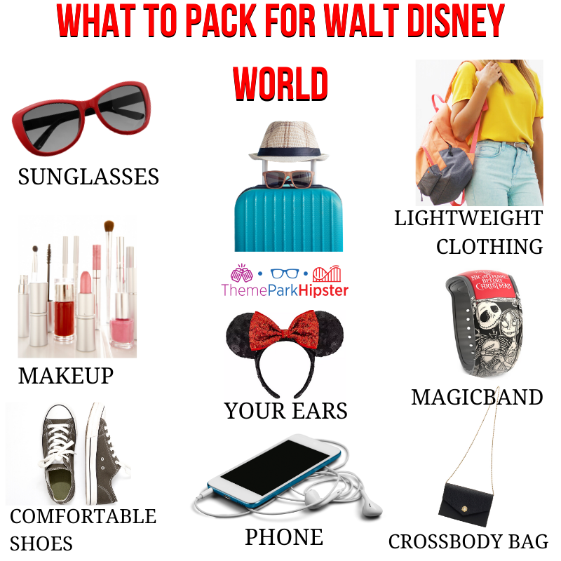 Disney packing list infograph
