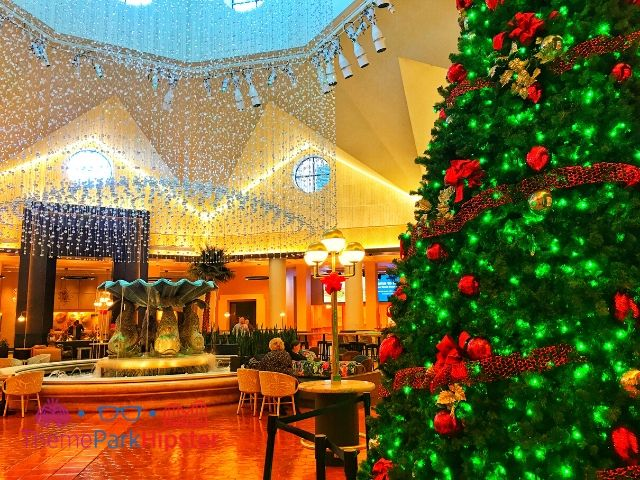Dolphin Hotel Resort Lobby with Christmas Tree