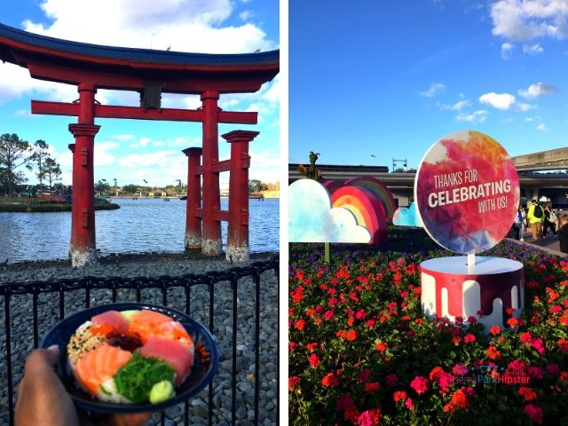 Epcot Festival of the Arts Menu Walt Disney World with Sushi Doughnut #DisneyFood