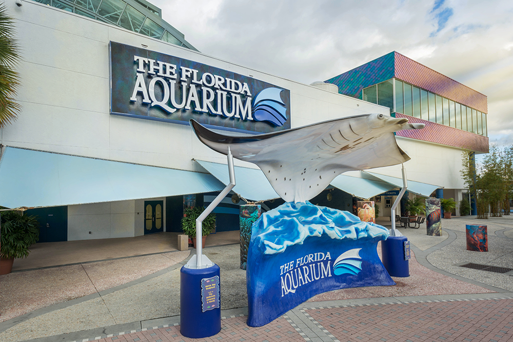 Florida Aquarium in Tampa Bay Press Release Photo of Front Entrance