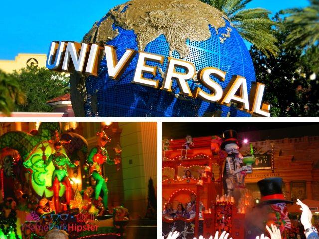 Mardi Gras parade at Universal