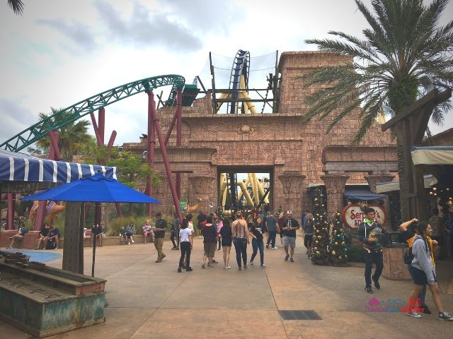 Montu and Cobra Curse roller coaster in Egypt at Busch Gardens