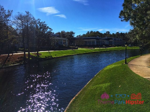 Port Orleans Riverside Resort River Area. safety tips for solo travel.