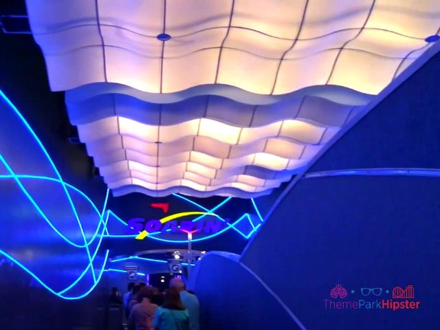 Soarin Around the World at Epcot Cloud Ceiling