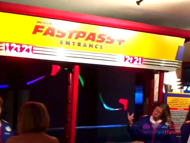 Soarin at Epcot Entrance in the Land Pavilion with FastPass wait time