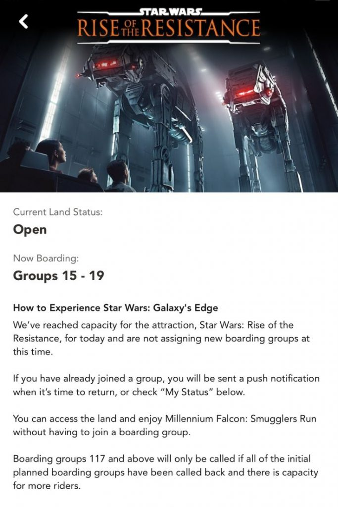 Star Wars Rise of the Resistance Boarding Pass Group Numbers