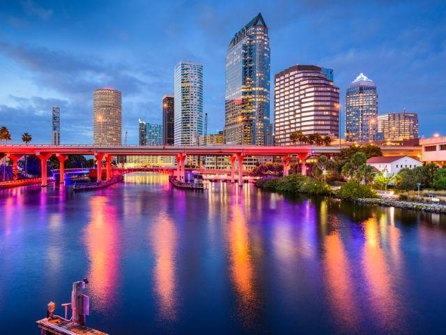 Tampa CityPass with nighttime skyline.