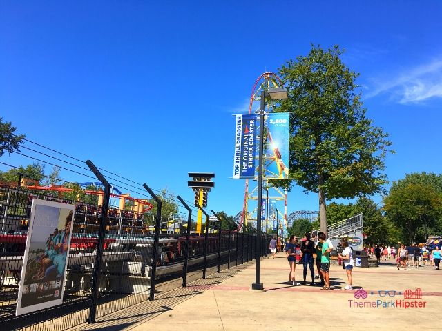 Top Thrill Dragster at Cedar Point Roller Coaster About to Take Off