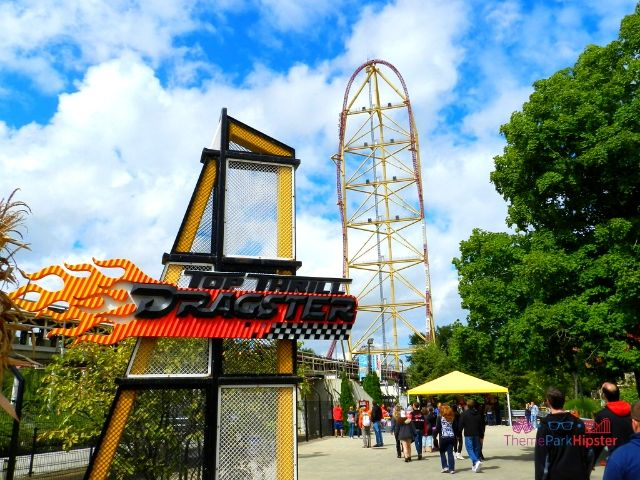 Top Thrill Dragster at Cedar Point Roller Coaster Going Down the Hill