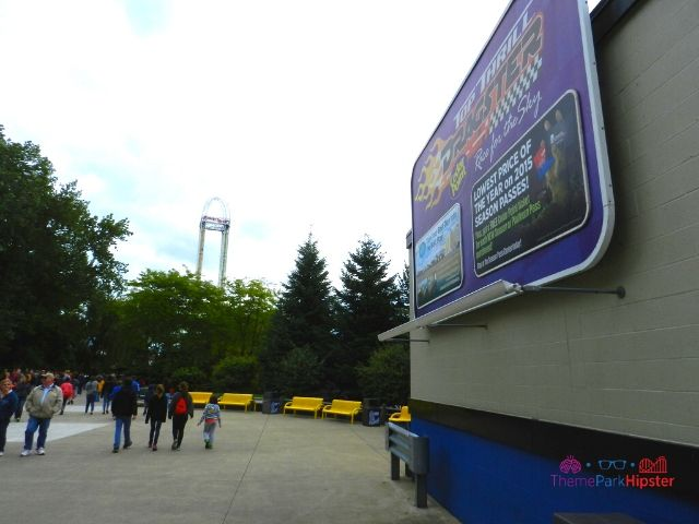 Top Thrill Dragster at Cedar Point Roller Coaster Sign