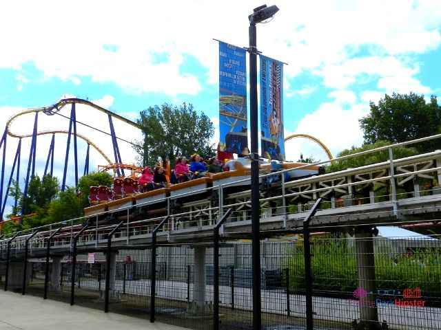 Top Thrill Dragster at Cedar Point Roller Coaster Taking Off