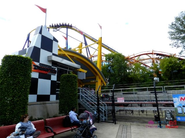 Top Thrill Dragster at Cedar Point Roller Coaster Waiting Area