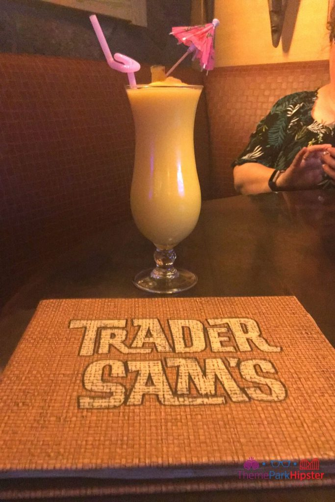 Trader Sams Grog Grotto Spikey Pineapple Barbancourt Pango Rhum blended with Pineapple Soft-serve