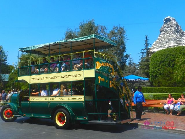 Disneyland Bus with Matterhorn in the Background 34