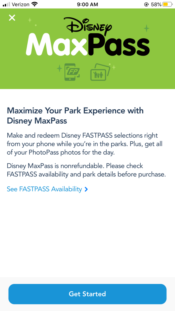 Disneyland MaxPass and FastPass App