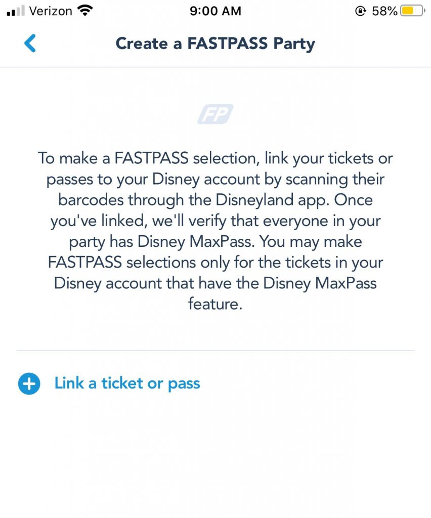 Disneyland MaxPass Option to Link Theme Park Tickets