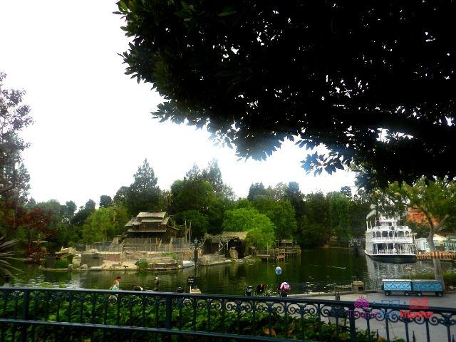 Disneyland Steamboat overlooking Frontierland 2 Rivers of America