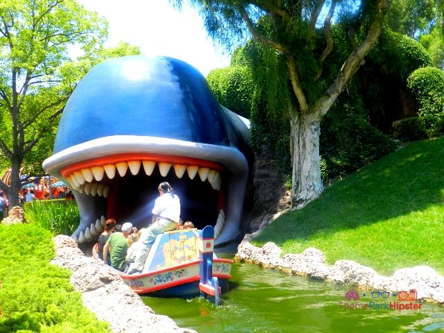 Disneyland Storybook Ride with Boat Going Into Whale Mouth
