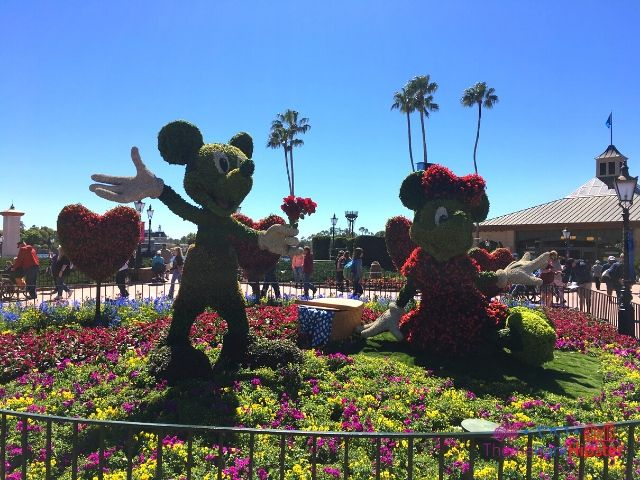 Epcot Flower and Garden Festival with Mickey Mouse and Minnie Topiary
