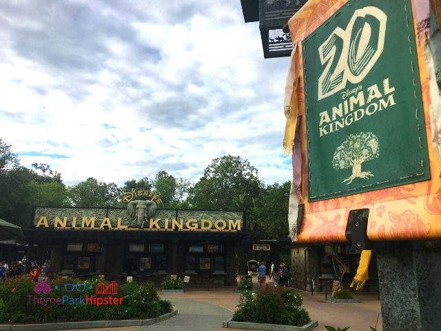 Front Entrance at Animal Kingdom Celebrating 20 years in 2018 to 2019
