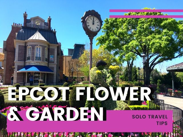Going to epcot flower & garden festival alone with cinderella and prince charming topiary