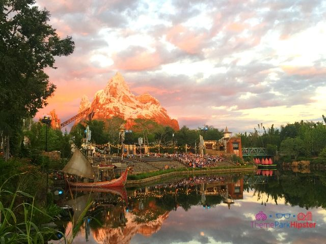 Lagoon overlooking Expedition Everest at Animal Kingdom