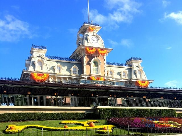 Magic Kingdom in the Fall Front Entrance with Train Station