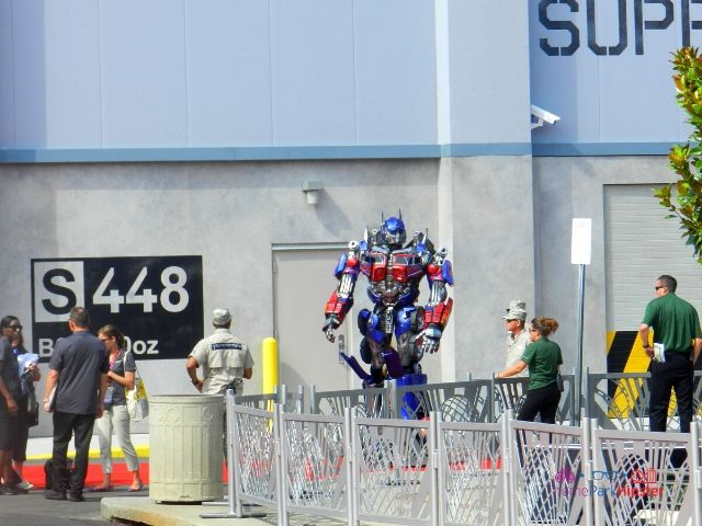 Transformers the Ride Universal Studios Grand Opening Day with Optimus Prime