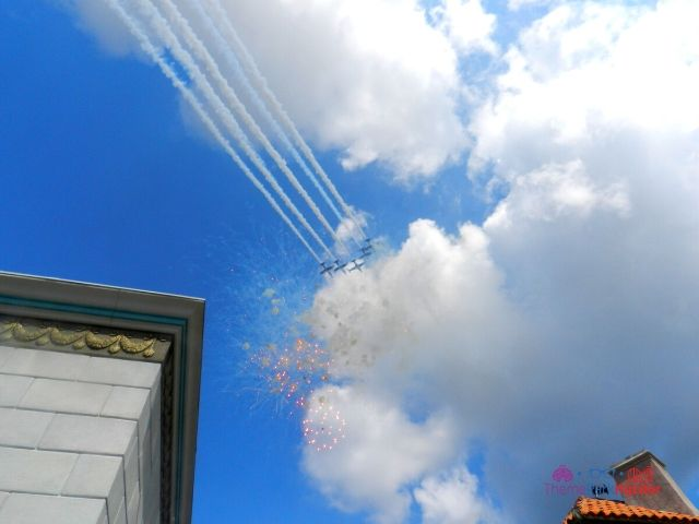 Grand Opening Day with Airplane Jets and Fireworks