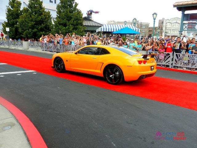 Transformers the Ride Universal Studios Grand Opening Day with Bumble Bee Car