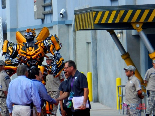The Ride Universal Studios Grand Opening Day with Bumblebee