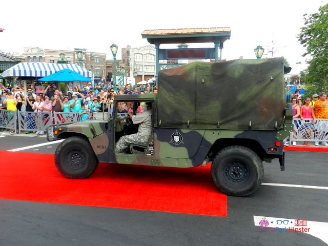 Transformers the Ride Universal Studios Grand Opening Day with Military Truck