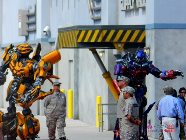 Transformers the Ride Universal Studios Grand Opening Day with Optimus Prime and Bumblebee