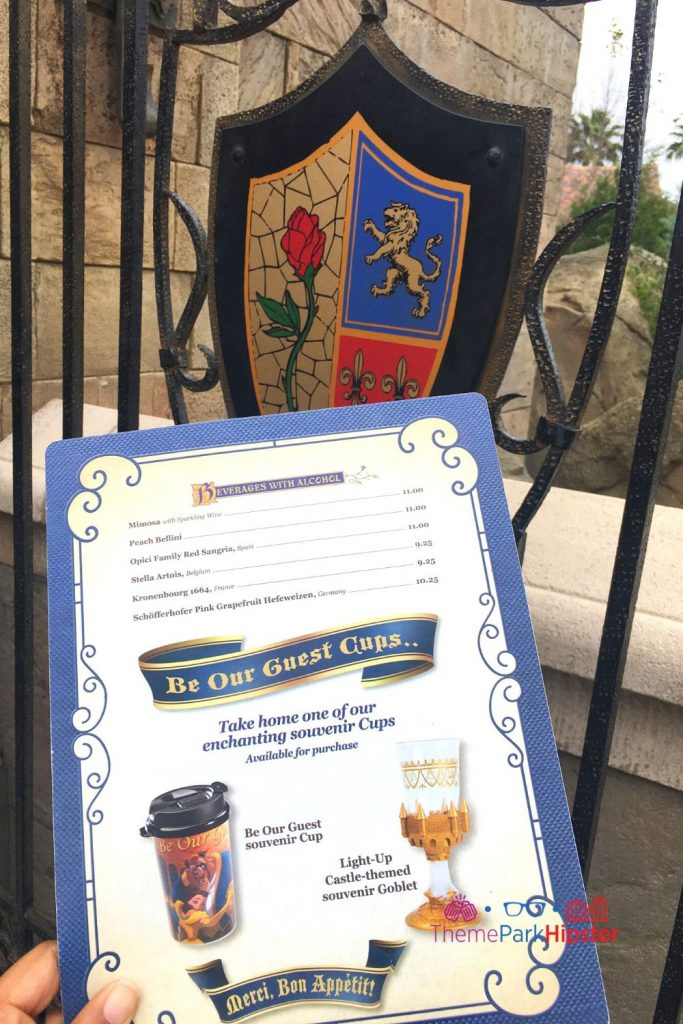 Be Our Guest Restaurant Drink Menu