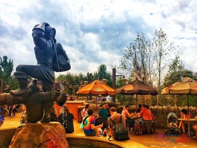 Magic Kingdom New Fantasyland Gaston's Tavern Entrance Statue