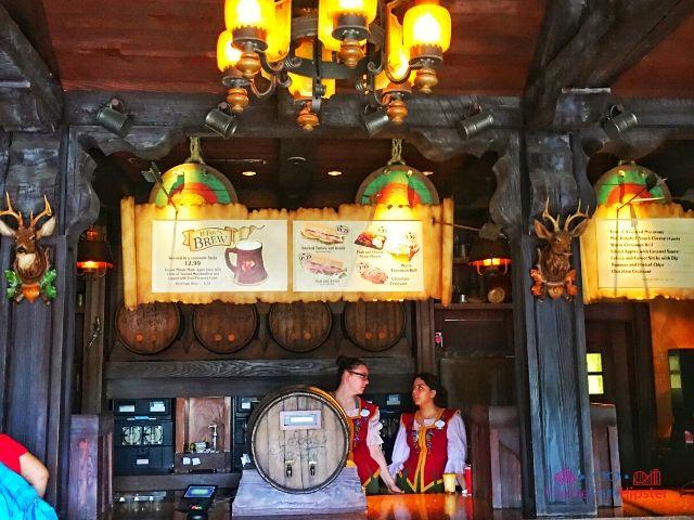 Magic Kingdom New Fantasyland Gaston's Tavern Menu