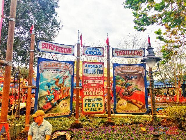 Magic Kingdom New Fantasyland Storybook Circus Displays