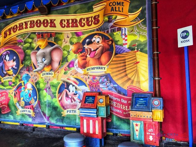Magic Kingdom New Fantasyland Storybook Circus FastPass Area