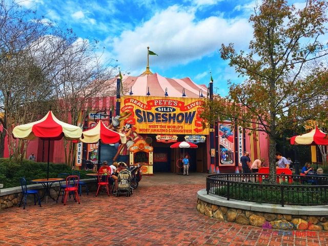 Magic Kingdom New Fantasyland Storybook Pete's Silly Sideshow Entrance