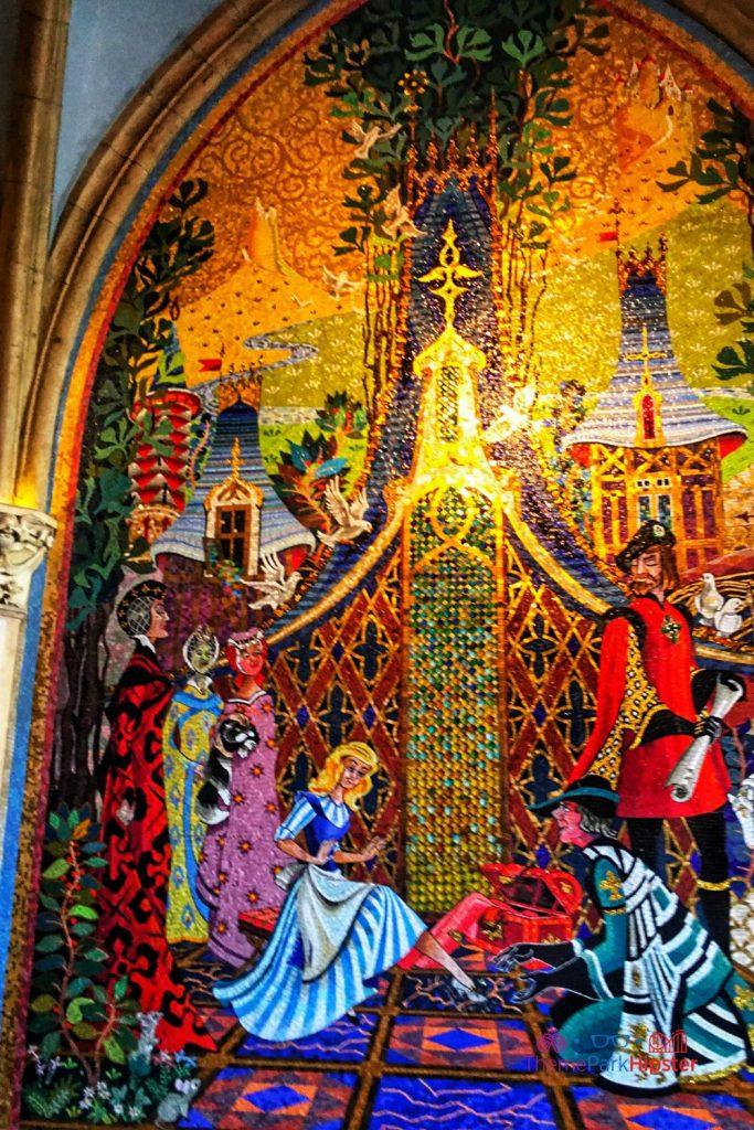 New Fantasyland at Magic Kingdom Cinderella Castle Corridor Artwork