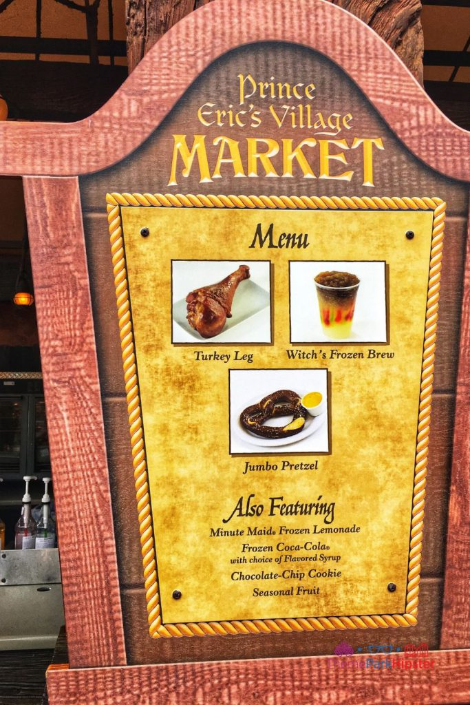 New Fantasyland at Magic Kingdom Fantasyland Prince Eric's Village Market Menu. One of the best restaurants at Disney World.