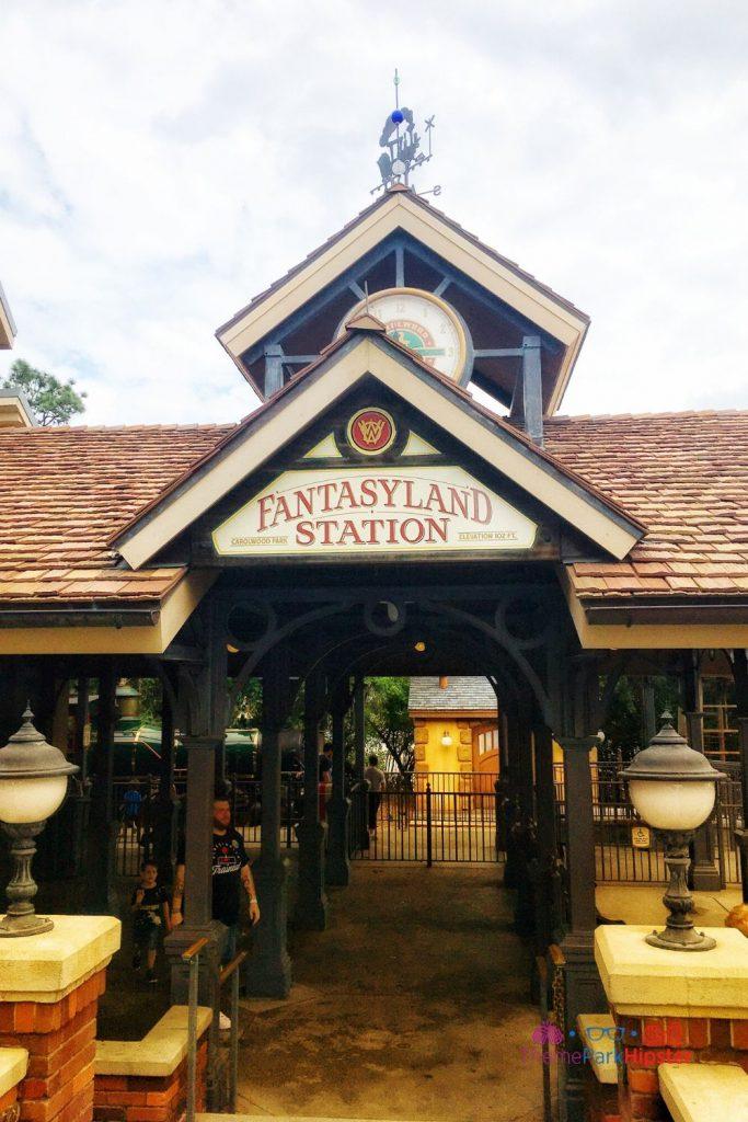 New Fantasyland at Magic Kingdom Fantasyland Railroad Station