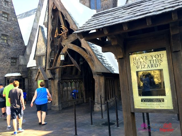 Universal Studios Hollywood Three Broomsticks Entrance with Sirius Black Photo