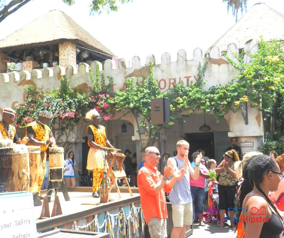 Animal Kingdom African Village men in Harambe singing