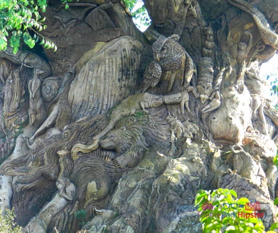 Animal Kingdom Tree of Life with Animals Carved inside of it