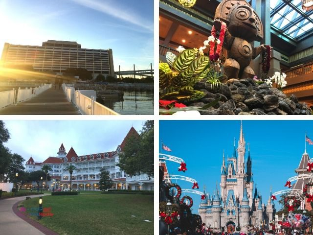 Disney Monorail Resorts with Contemporary Resort Polynesian and Grand Floridian