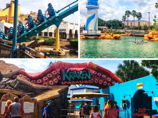 Kraken Roller Coaster at SeaWorld