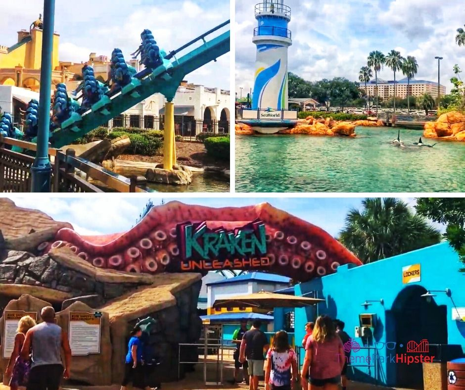 Kraken Roller Coaster at SeaWorld