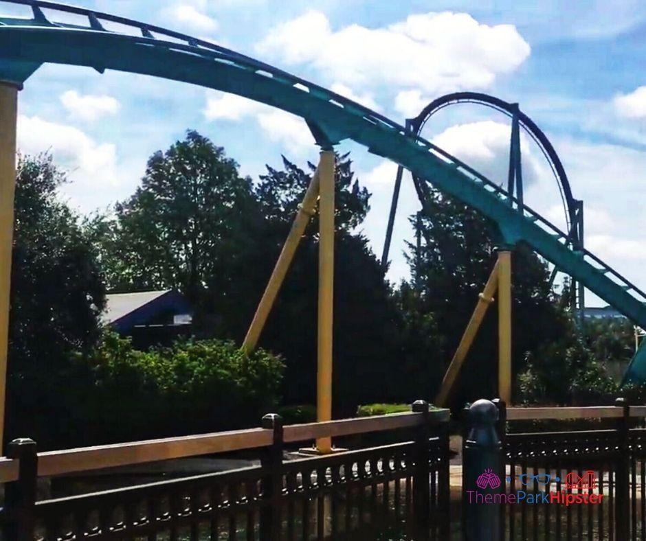 Kraken Roller Coaster inversion.
